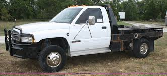 100 Dodge Dually Trucks 1994 Ram 3500 Flatbed Pickup Truck Item A2355 SOLD