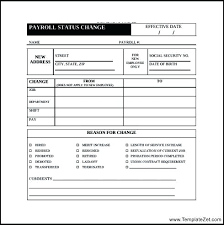 Change Notice Template Great Payroll Form Images Contemplated