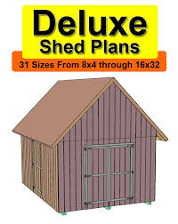 10x20 Shed Plans With Loft by 10x20 Deluxe Gable Roof Shed Plans In 31 Sizes From 8x4 To 16x32