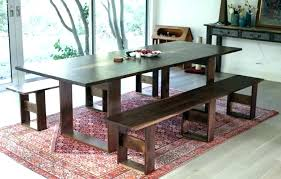 Dining Room Table With Bench Seat Set Upholstered Back Dimensions Magnificent