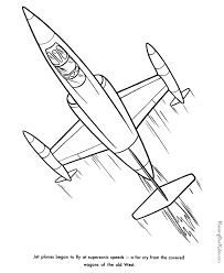 Jet Coloring Book Page