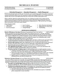Operation Manager Resume Operations Sample India