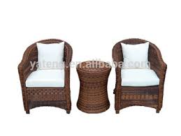 Outdoor Patio Furniture Wicker 2 Chairs And Table Set View
