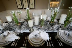 Gorgeous Silver Charger Plates In Traditional San Francisco With White Spring Granite Countertop Next To Table Setting