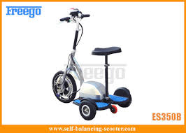 Playground Moped Three Wheel Electric Scooter With Seat 500W Hub Motor