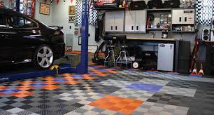 composite custom garage floor tile installation nj