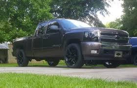 100 Chevy Truck Wheels And Tires Black Eight Spoke 22 With Bridgestone Dueler Alenza