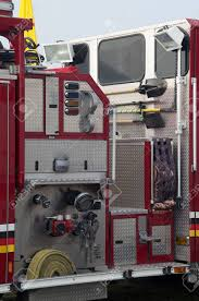 99 Truck Tools Detail Of Portion Of Fire Showing Hoses And Stock Photo