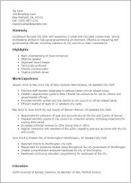 professional city clerk templates to showcase your talent