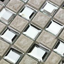 ceramic tile mirror sheets square pattern mosaic