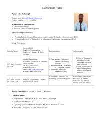 Cool Pdf Resume Format For Lecturer In Samples Faculty And Sample Job 20