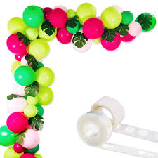 Tropical Hawaii Party Decorations Balloons 75 Pack Balloon Garland Kit Latex Balloons With Palm Leaves And Balloon Strip Set For Baby Shower Wedding