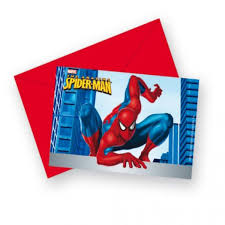 Carton Dinvitation Spiderman X6 à Invitation Anniversaire Spiderman