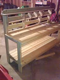 built the potting bench vegetable gardener