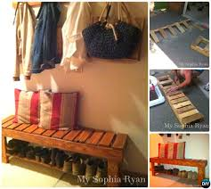 DIY Rustic Wood Pallet Bench Instructions 20 Best Entryway Ideas Projects