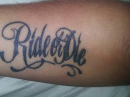 What Are Different Ride Or Die Tattoos Ideas