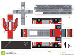 Paper Model Of A Fire Truck - Download From Over 58 Million High ...