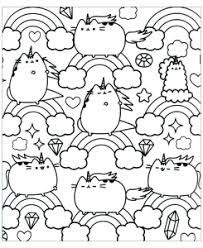 Incredible Pusheen Coloring Page To Print And Color For Free