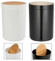 kosmetikeimer badmülleimer badeimer schwingdeckel bambus