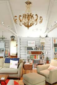 Rustic Paint Ideas Living Room Shabby Chic Style With Half Wall White Painted Raft