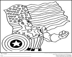 Download Coloring Pages Avengers Captain America Sheet 2017 16544 Page