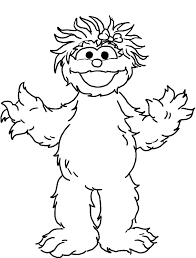 Elmo Excited Coloring Pages For Kids Printable Sesame Street