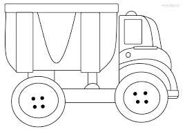 Dump Truck Coloring Page Printable Pages For Kids Cool2bkids Free Book