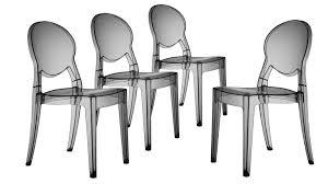 chaises plexiglass chaises design transparente et baroques delly mobilier moss