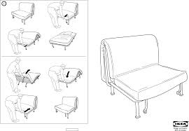 Lycksele Chair Bed Cover by Comfortable Lycksele Murbo Sofa Bed Instructions In Inspiration To