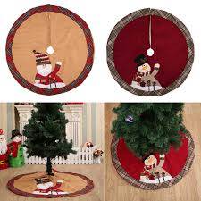 Diameter 105cm Red Christmas Tree Skirt Tree Decorations Christmas Ornaments Decorated