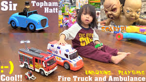 Thomas & Friends' Sir Topham Hatt, Fire Truck & Ambulance Toys And ...