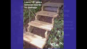 Building Steps On A Hillside. - YouTube Landscaping Design For Small Spaces Best Sloped Backyard Deck Deck Plans Hgtv Taming A Slope Sunset Best 25 High Ideas On Pinterest Railings Diy Storage Sloping Sloped Backyard Designs Decks How To Build Floating 3 Steps Under Foot Outdoor Flooring Buyers Guide Make Dynamic Statement With Multilevel Gardening Building 24 X 20 Steep Slope Backyards And Design Ideas Interior
