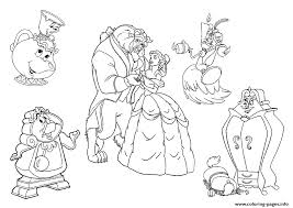 All Characters Beauty And The Beast Disney Princess 9bc5 Coloring Pages