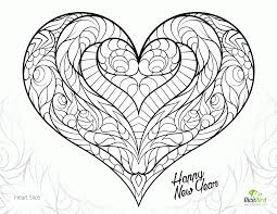 Coloring Pages Heart Slice Free Adult Printable
