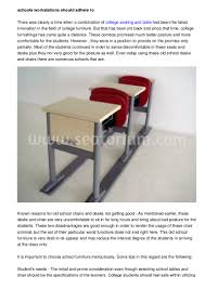 100 College Table And Chairs Institutions Desks Should Adhere To Safety Norms Set By LawCauses Of