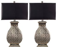 Set Of Small Table Lamps by Amazing Safavieh Table Lamps With Satin Rectangular Shades Set Of