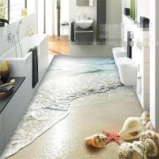 moderne aufkleber 3d boden badezimmer wand hd ozean strand