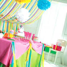 Birthday Decor Paper Easy Party Decorations Diy