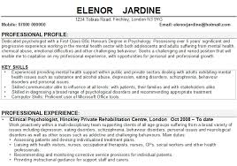 Sample Resume For Psychology Majors Captivating Student With Gallery Of
