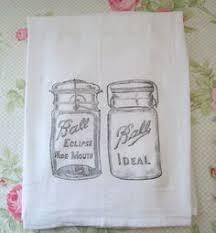 Mason Jar Ball Rustic Flour Sack Towel By CottageMode On Etsy