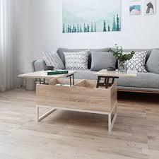 ease couchtisch mit höhenverstellbar wohnzimmertisch funktionaler design couchtisch mit stauraum und ablage für büro küche wohnzimmer