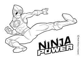 Ninja Power Rangers Coloring Page Color Online Print