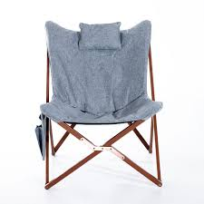 Algoma Butterfly Chair Replacement Covers by Amazon Com Homcom 37 U201d Fabric Folding Butterfly Chair Light Gray