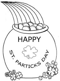 Celebrating St Patricks Day With A Pot Of Gold Coloring Page