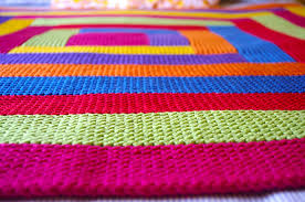 How to knit a log cabin blanket tikki