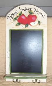 Apple Slate Message Board Wall Shelf Decor Home Accents Country