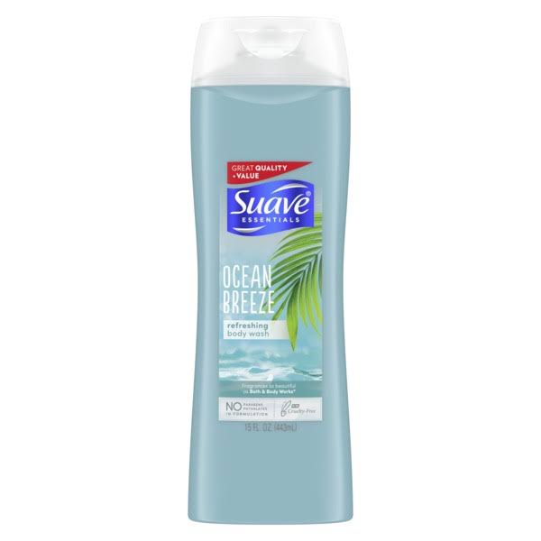 Suave Essentials Ocean Breeze Body Wash - 15oz