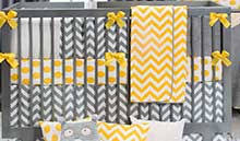 yellow and gray baby crib bedding yellow and gray nursery decor