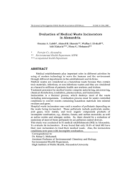 Rbc Tile Stone Of Iowa by Evaluation Of Medical Waste Incinerators In Alexandria Pdf