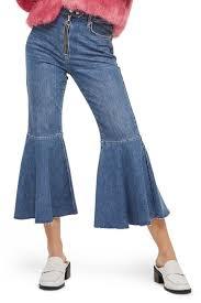 TOPSHOP Dree Trumpet Hem Crop Jeans